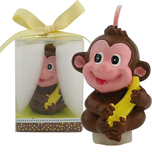 TIHOOD Creative Little Monkey Cartoon Birthday Candle, Smokeless Cake Candle and Party Supplies, Hand-Made Cake Topper Decoration, Great Gift