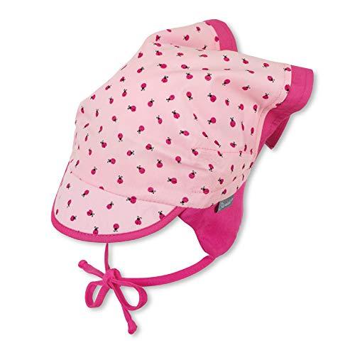 Sterntaler Kopftuch für Mädchen mit Bindebändern und Marienkäfer-Motiv, Alter: 18-24 Monate, Größe: 51, Rosa (Mandelblüte)
