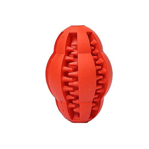Yowablo Snackball Hund Hundespielzeug Katzenspielzeug Molar Stick Effektive Zahnbürste Leckage Food Teeth Cleaning Stick (8cm,3Rot)
