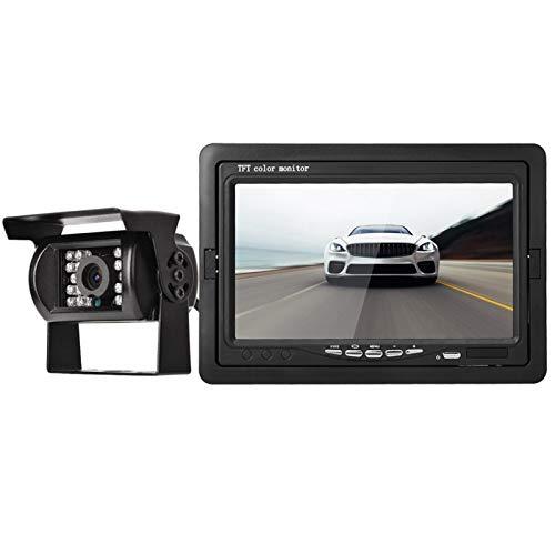 FOLOSAFENAR Imagen Realista Ajustable de la cámara del Espejo retrovisor del Monitor del Aparcamiento del Coche con la Lente F1.2 HD