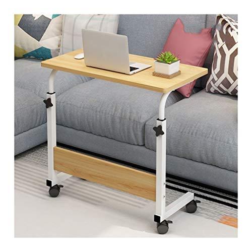 LAA Laptoptisch Höhenverstellbar, Laptopständer Holz Für Schlafzimmer, Wohnzimmer, Sofa Perfekte Aufbewahrung Nachttisch verstellbar (Color : Wood Color, Size : 80x40cm)