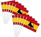 Durabol 12PCS Bandera de Mano de Toro Comunidades autónomas de España (20X30CM) (Toro)