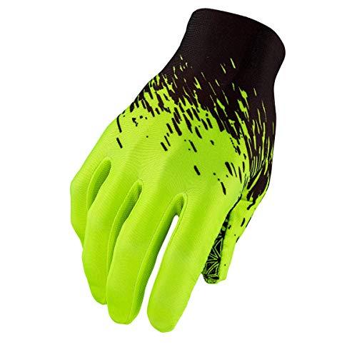 Supacaz SUPAG Long Glove-Black/Neon Yellow-L Guantes para ocasión especial, Amarillo, Estandar Unisex Adulto