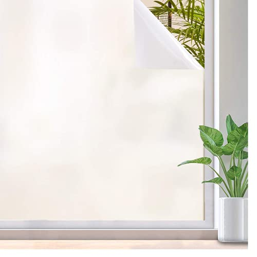 Adhesivo estático de privacidad Mate Blanco, película de Vinilo para Ventanas, con película para teñir Ventanas con Bloqueo de luz Anti-Ultravioleta O 30x200cm