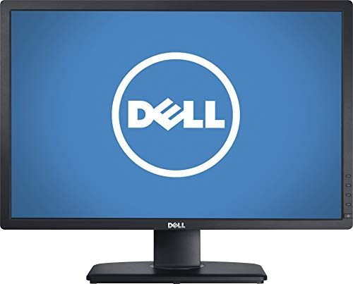 Dell UltraSharp U2412M Monitor, Black IPS Panel, 24' 8ms Pivot, Swivel & Height Adjustable LED Backlight Widescreen LCD, DisplayPort, VGA, DVI-D, 4 USB 2.0, 1920 x 1200 @ 60 Hz resolution