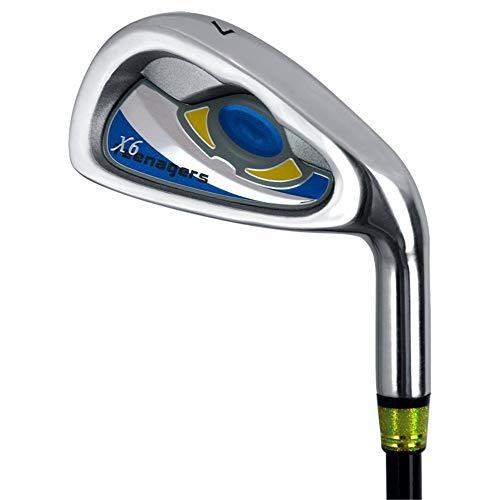 Wangxiaoxia-Sports Golf Eisen Golfschläger Golf Putter Carbon 7 Eisen Kinder Golf Practice Club Für Jugendliche, Blaue, Grüne Männer Und Frauen Golfeisen für Anfänger Oder Erfahrene Spieler