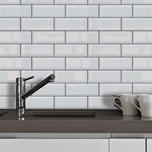 WALPLUS Glossy Sticker Fliesen 30 cm x 15 cm Premium Wand Peel und Stick Backsplash Mosaike, selbstklebend, Küche Backsplash, Peel und Stick, Badezimmerdekoration, DIY, Küchendekor