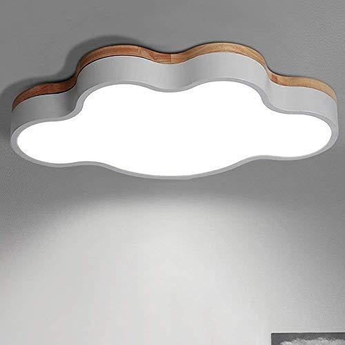 YANGQING Lámpara de luz LED Norte Europa Araña Hierro Madera Sólida Acrílico Lámpara de Techo de la Habitación de los Niños Luz de Techo Dormitorio Salón Cocina Decoración Luz