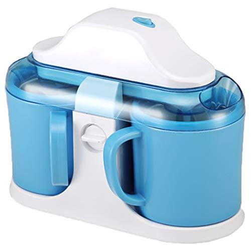 OCYE Automatische Eismaschine mit doppeltem Durchgang, zweischichtige Isolierung, sehr gut geeignet für die Herstellung von Kegeleis, Sorbet, Fruchteis, gefrorenem Joghurt für Kinder - gelb, blau