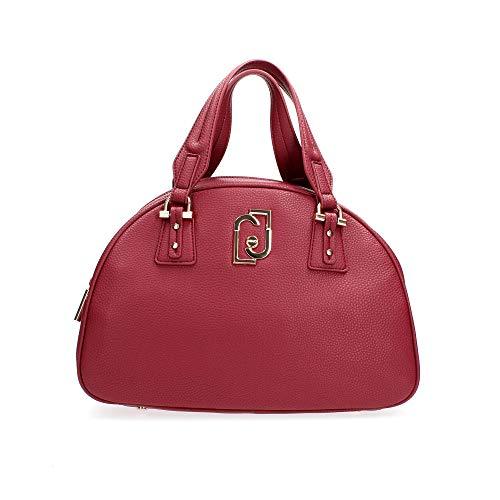 Borsa Liu-jo bauletto bowling satchel a mano/tracolla in ecopelle rosso lampone B21LJ29