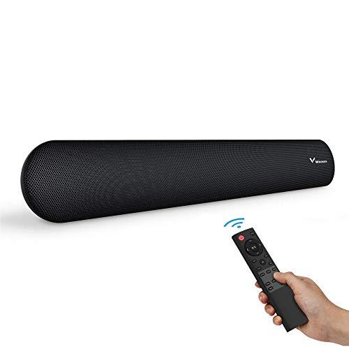 Winnes Soundbar für TV Gerät, Soundbar mit Subwoofer, 3D-Surround Bluetooth Lautsprecher, Bluetooth 5.0 Bass und DSP-Technologie(mit RCA, USB, Optisch, AUX und Bluetooth)