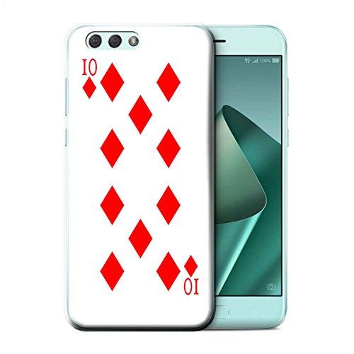 Stuff4® Hülle/Case für Asus Zenfone 4 ZE554KL / 10 von Karo Muster/Kartenspielen Kollektion