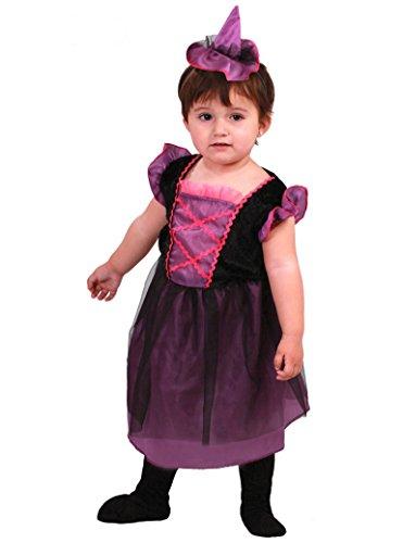 Guirca Costume Streghetta, Violet/Noir, 1 – 2 Ans, 78014