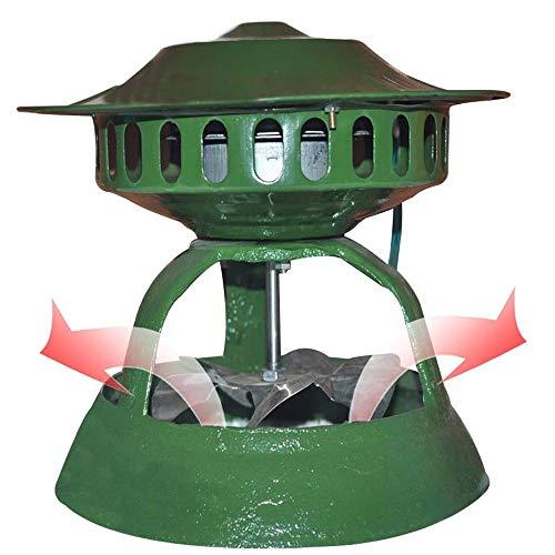 Bomba de Extracción de Humos Guiada por El Techo, Extractor de Humos de Chimenea, Ventilador de Escape para Chimenea, Inductor de Tiro, Barbacoa Extractor de Aire, 120Watts5leaves, Verde
