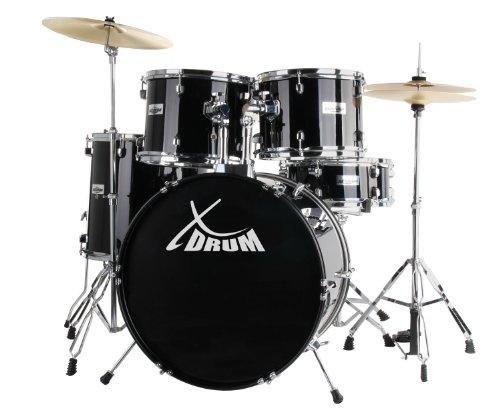 XDrum Classic Batería completa negro + platos + Método