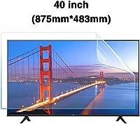 DPPAN 40インチ反射防止 液晶保護フィルムテレビモニター用、スーパークリア アンチブルーライト スクリーンセーバー、目を守る 保護フィルム LCD PC用,A