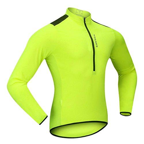 Sharplace 2 x Unisexe Maillot Veste à Manche Longues de Vélo / Cyclisme / Course Chemise Avec 3 Poches à Arrière - M et L