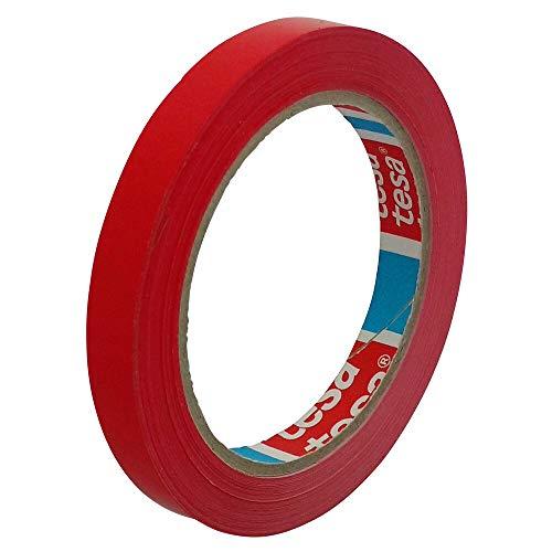 Klebeband Markierungsband tesafilm 4204 PVC, 12mmx66m | Ideal für Tischabroller und Beutelverschlußmaschinen (1 Rolle, rot)