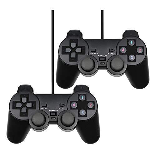 Kilcvt Controlador con Cable para Xbox One, Controlador De Juegos USB con Cable para Pc Gamepad - para Winxp / Win7 / 8/10 Joypad, para Pc con Windows Computadora Joystick De Juegos,2pcs
