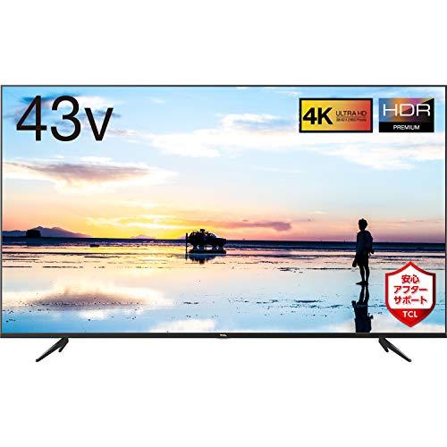 TCL 43V型 4K液晶テレビ 43K601U HDR搭載 鮮やかな色彩 裏番組録画対応 2019年43インチモデル 43K601U