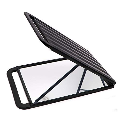CZFSKCZ Makeup Vanity Mirror Mirrors, Folding Travel Mirror, PU Portable Adjustable Rectangular Ultrathin Mirror, for Travel, Camping,Home,Colour: Black,Size:3623.5cm