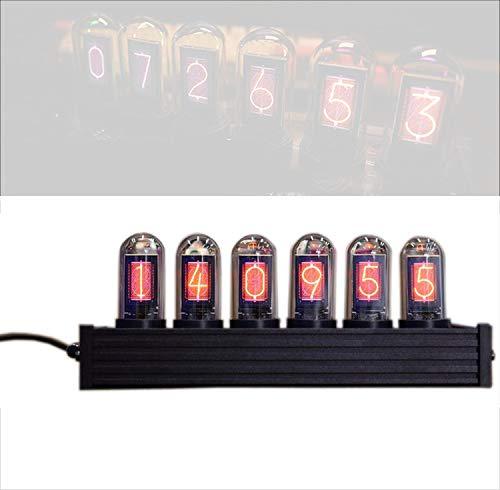 輝光灯管時計、アイデアLEDデジタル時計擬似復古、Rbbフルカラーデジタル管時計、デスクトップ装飾、クリスマスプレゼント彼氏にプレゼント