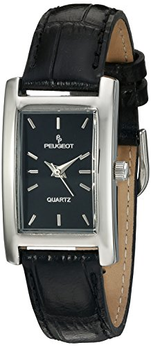 "Peugeot Women Rectangular""H"" Shape Wrist Watch with Matching Wrist Strap"