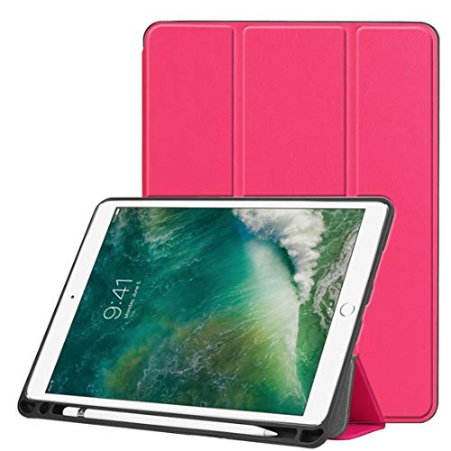 Leather Case Custer Texture Horizontal Flip Leather Case For IPad Pro 10.5 Inch/IPad Air (2019), With Three-folding Holder & Pen Slot QiuGe (Color : Rose Red)