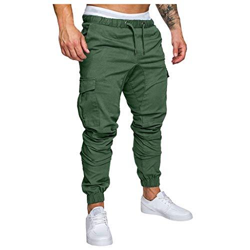 KaloryWee Männer Moderne Lang Hosen Pure Color Chino Cargohose Freizeithose Business Jogginganzug Herren Streetwear Stylische Slim