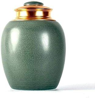 Mopoq Funeral Urn Medium Sealing Hand Made in Ceramics Memorial Urns for Human Ashes Adult or Pet - Display Burial Urns at...