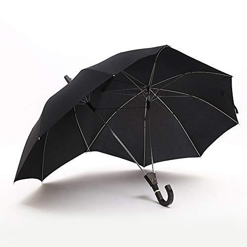 Memory Paraguas Creativo De Dos Puntas, Aumentar La Protección Solar Resistente A La Intemperie Sombrillas, Paraguas De Par Unisex Anti-UV, La Lluvia Y La Lluvia De Corea (Color : Negro)