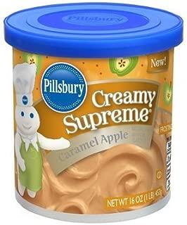 Pillsbury Creamy Supreme Frosting 16oz (Pack of 4) Select Flavor Below (Caramel Apple)