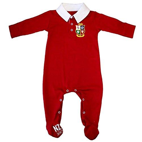 British & Irish Lions Ropa de dormir para bebé tipo rugby–Rojo.