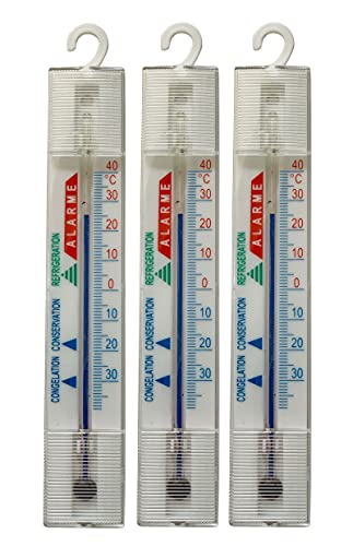 Preisjubel 3 x Thermometer aus Plastik z.B. nutzbar als Kühlschrankthermometer BZW. Gefrierfach, Kühlschrank oder Gefriertruhe
