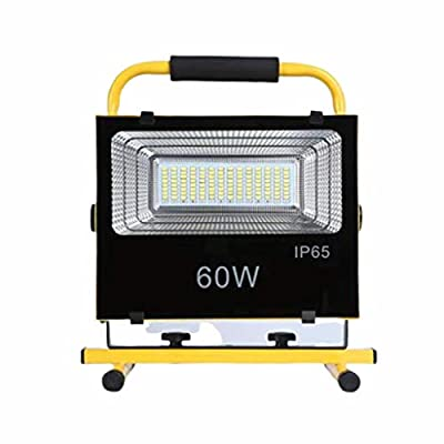 XIANWEI LED Warm White Outdoor Lighting Projector Rechargeable 60W IP65 Work Light Super Bright Flood Light Outdoor Lighting Practical Portable Waterproof Light Work Spotlight Camping, Fishing, Night