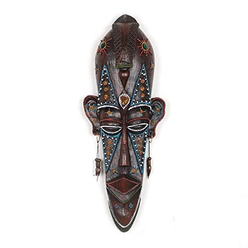 Decoración de pared Frontones de pared Decoración De Pared, Máscara Africana Creativa Colgante De Pared Decoración De Barra Colgante De Tatuaje Tienda De Decoración De Pared ( Color : A )