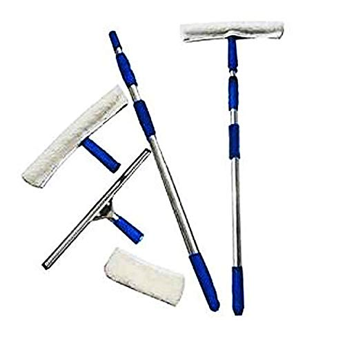 Set spazzola lavavetri con parti di ricambio e asta telescopica di Ardisle