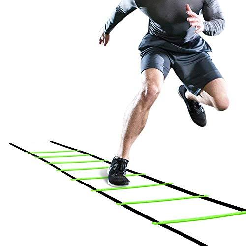 Générique Échelle D'agilité/Speed Ladde 5M Kit de Formation de Flexibilité de Football pour Enfants Adultes Fitness Jumping Ladder Speed Training Kit (Sac Inclus)