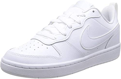 Nike Boys Court Borough Low 2 (GS) Sneaker, White/White-White, 37.5 EU