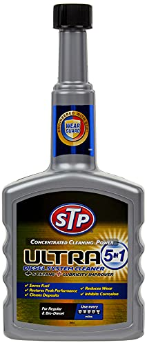 STP GST77400EN Car Care Ultra System Cleaner, 5 in 1 Concentrated Cleaning Formula for Diesel Engines, 400 ml