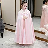 GJBXP 2019 nuevo suéter de invierno de manga larga Elsa Ann vestidos de princesa Cosplay Vestidos de bebé Conjunto de cumpleaños de Navidad para niños Ropa 140 vestido rosa y capa