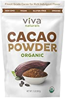 Viva Naturals Certified Organic Cacao Powder (2lb) for Hot Cocoa, Smoothies, Coffee and Drink Mixes
