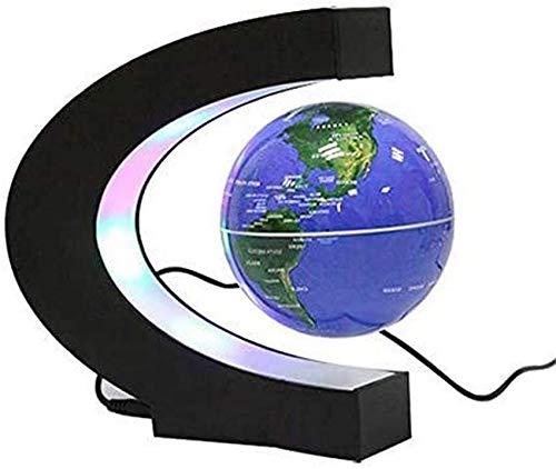 THj Globo terráqueo Flotante, Globo terráqueo de levitación magnética para educación, decoración de Escritorio para el hogar/Oficina, Regalo de cumpleaños para niños, B
