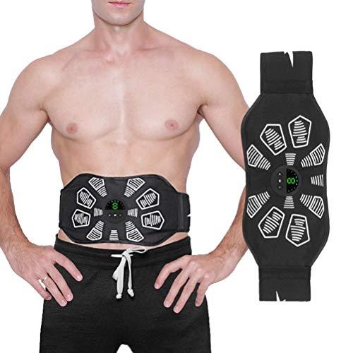 Eksesor Entrenador de músculos eléctrico, cinturón de Fitness Entrenador Abdominal, Recargable, estimulador Muscular EMS, Equipo de Fitness para Hombres y Mujeres