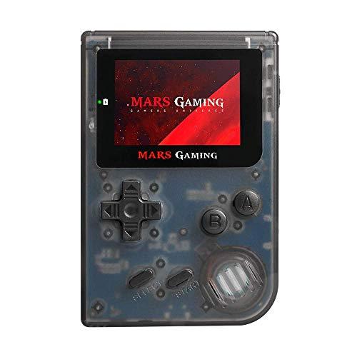 Mars Gaming MRBB, Console con 151 giochi, MicroSD, emulatore GBA, Sega, NES, FC/SFC Nero