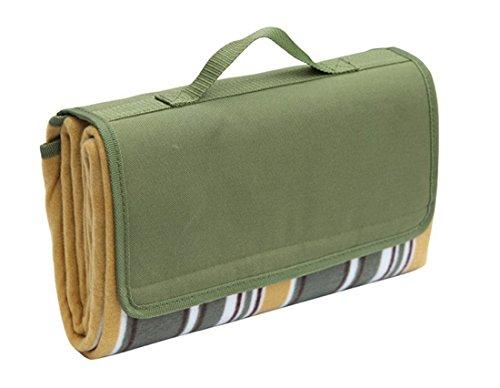 Honeystore Flanell Wasserdichte Yoga Matte Picknickdecke mit Tragegriff Grün 125 * 150 cm