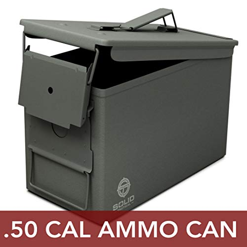 powerful New Rugged Tactical 50 Cal Ammo Metal Can – Military and Military Steel Waterproof M2A1 Ammo Box