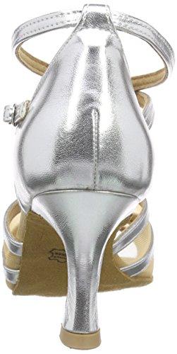 Diamant Latein 035-087-013 Damen Tanzschuhe – Standard & Latein, Silber (Silber), 40 EU (6.5 UK) - 3