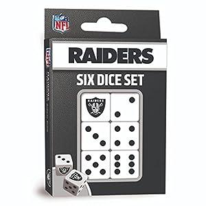 MasterPieces NFL Las Vegas Raiders Dice Set, Team Colors by MasterPieces Puzzle Company