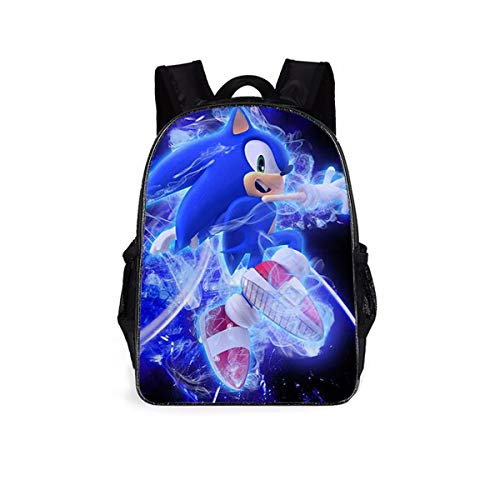 Sonic The Hedgehog Backpacks Kids School Backpacks So-Nic Hedge-Hog 3D Printed Sonic School Bag for Boys Girls